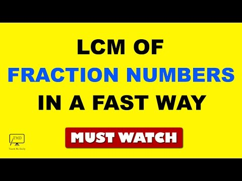 Fast Maths : LCM / LCD of Fraction Numbers Fast - in Hindi