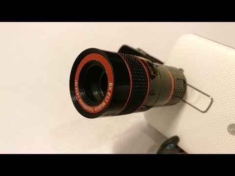 Optical 8X Zoom Phone Telescope Camera Lens - (unboxing & test) photo compare
