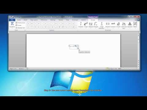 How To Create Equations in Microsoft Word 2010