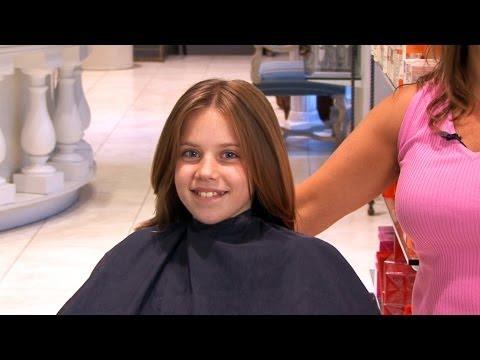 Kids' Long, Layered Haircut