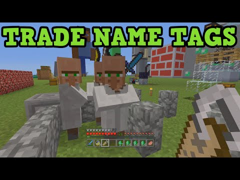 Minecraft Xbox 360 + PS3 How To Trade Name Tags