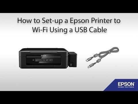 How to set-up a Epson printer to Wi-Fi using a USB Cable