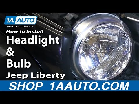 How To Install Replace Change Headlight and Bulb 2002-04 Jeep Liberty