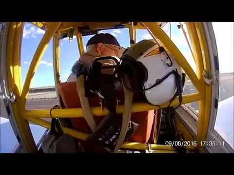 Familiarization training flight in a air tractor 802