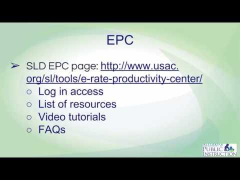 EPC, or E-rate Productivity Portal