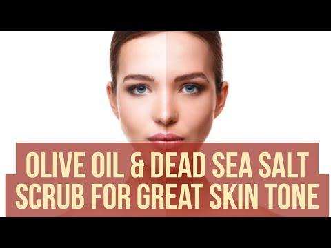 Olive Oil & Dead Sea Salt Scrub For Great Skin Tone