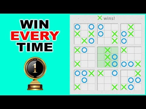 How to Win in Tic Tac Toe Every Time