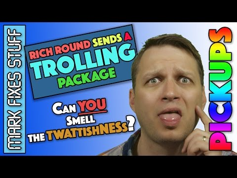 A TROLLING package from Richard Round - Utter FAIL - Disappointing Box of Crap Opening