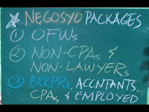 Negosyo Packages for OFWs, Non-CPAs, low-priced bookkeepers or employed accountants