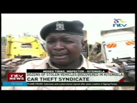 Dozens of stolen vehicles discovered in Kitengela
