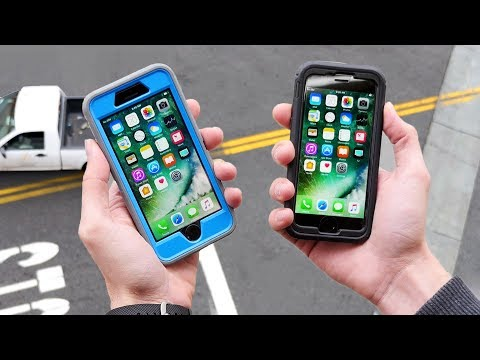 iPhone 7 OtterBox vs. Tech21 33 FT Drop Test!