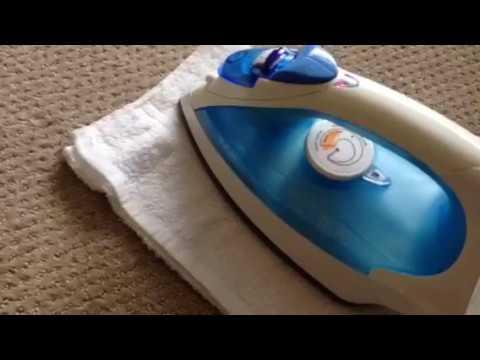 Removing carpet indents