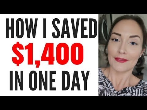 HOW I SAVED $1400 IN ONE DAY ● STORYTIME ● HOW TO SAVE MONEY FAST