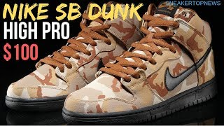more photos 653dc 90c6a The Nike SB Dunk High Appears In A Brown Desert Camo