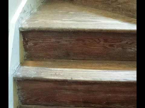 Staircase Makeover Part II - stripping + sanding
