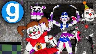 FNAF SISTER LOCATION IN FNAF 2 MOD!! W I P 1 FUNTIME FOXY JUMPSCARE