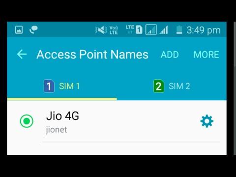 Asus Zenfone 2 Reliance Jio 4G LTE Sim VoLTE Settings
