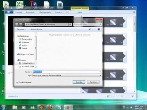 Cambiar formato a un video de windows live movie maker (WMV) para youtube .