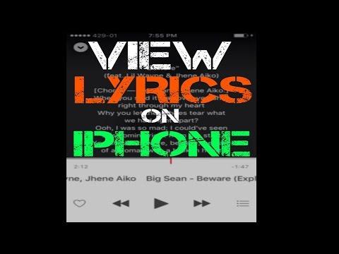 Add Lyrics on Stock Music app of iPhone
