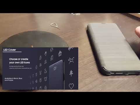 Samsung S9 LED View Cover Unboxing and Setup