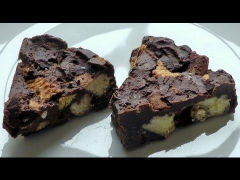 Rocky Road Chocolate Bar Cake How to make food recipe