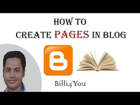 How To Create Pages And Write Posts Under Them In Blog - Step By Step Tutorial  5  - 2014 Hindi/Urdu