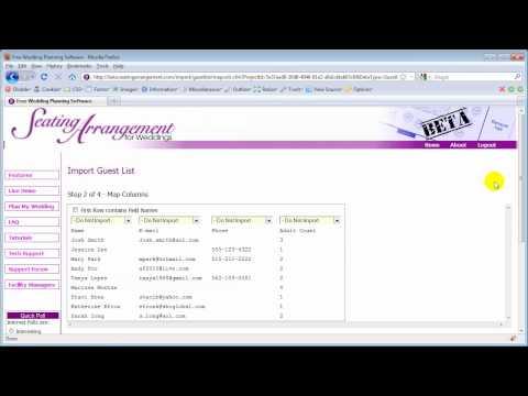 Import Guest List - Free Wedding Planning Software