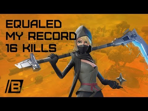 FORTNITE: Equaled my personal solo record of 16 kills - Victory royale