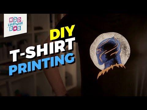 How to make DIY printed T-shirts | Black Panther