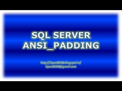 ANSI_PADDING in SQL Server