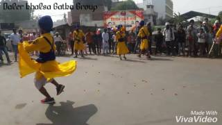 Daler khalsa gatka group show time in (M.P)