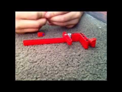 Very Mini Lego Working Rubber Band Gun