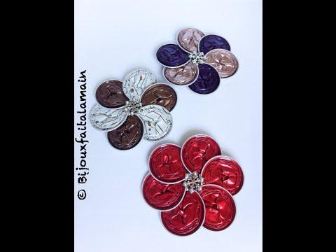 DIY coffee pod: How to make a flower brooch