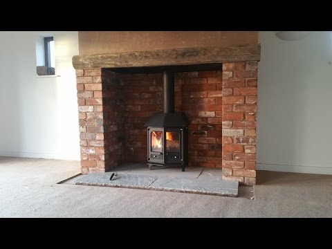Charnwood Country 6, Brick Chimney Build, Inglenook, Stove Installation