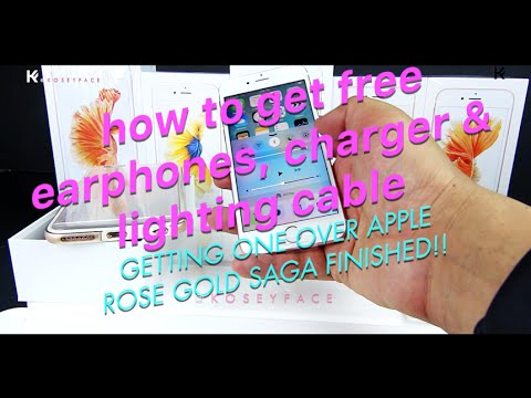 How I got free apple Lighting cable Charger Headphones, iphone 6s Rose gold