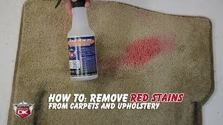 How To: Remove Red Stains from Carpet and Upholstery - Red Away