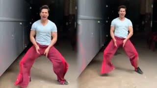 Varun Dhawan's WEIRD BALA BALA Challenge In Red Pants On The Sets Of Coolie No.1   Akshay Kumar