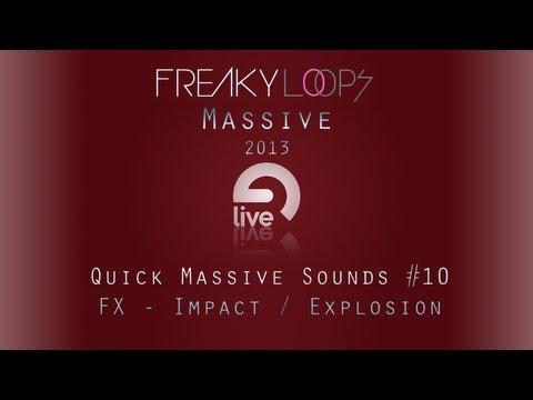 Massive Tutorial: Quick Massive Sound #10 - FX - Impact / Explosion