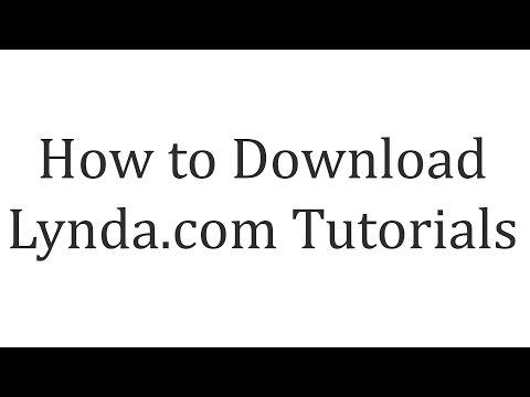 How to Download Lynda Tutorials