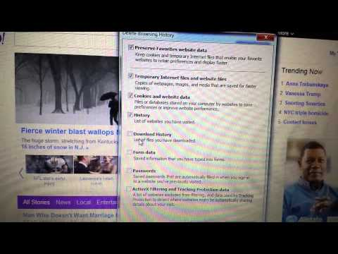 2014- Internet Explorer: How to Delete Browsing History