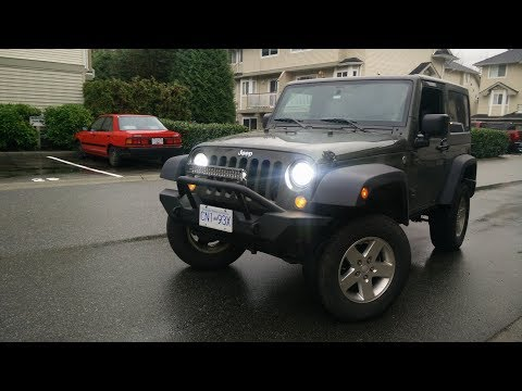 HOW TO EASILY INSTALL JEEP WRANGLER FRONT BUMPER JK