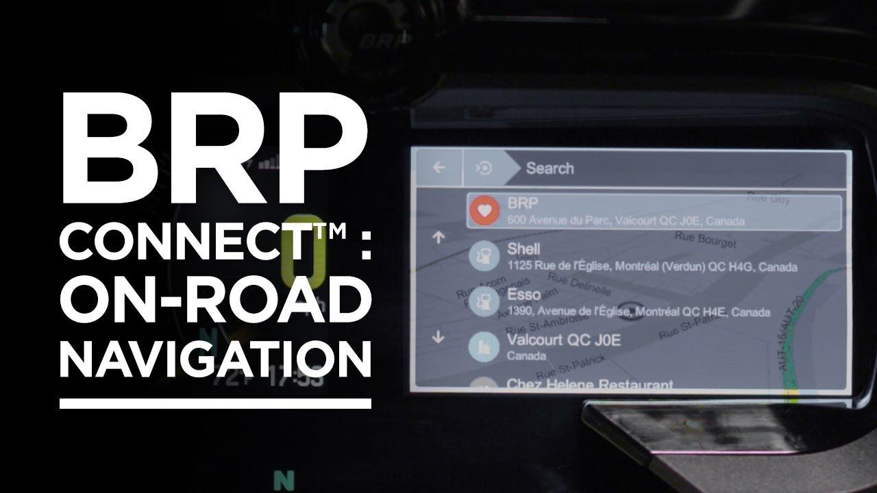 BRP Connect™: On-Road Navigation