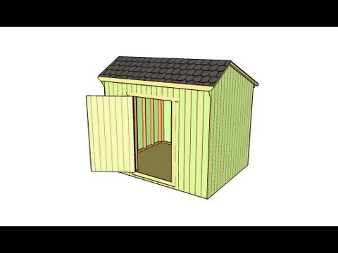 How to build a saltbox shed