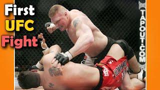 First Ever UFC Fight of Brock Lesnar