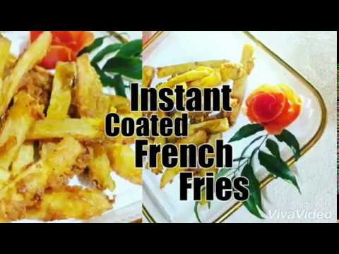 Instant French Fries | Easy Coated French Fries | With in 15 minutes|Crispy potato |Home made