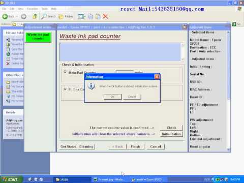 RESET XP 203 resetter Waste ink pad counter