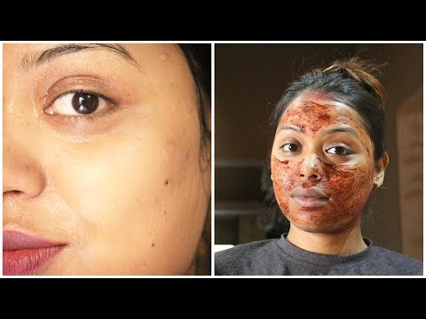 How to Apply Scrub on Face / Face Scrub at Home ( Hindi )