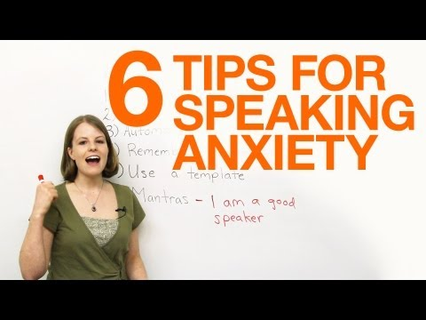 6 tips for dealing with speaking anxiety