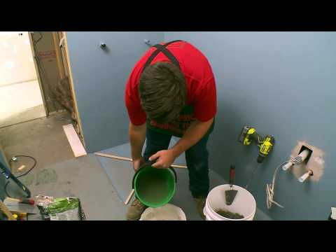 How To Screed A Shower Base - DIY At Bunnings