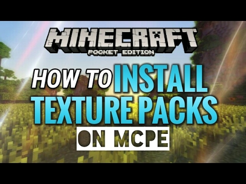 HOW TO INSTALL TEXTURE PACKS ON MCPE 1.0.5!